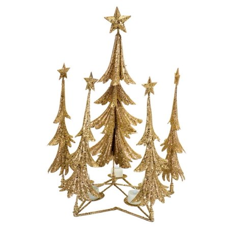 Gold Christmas Candle - Pack of 2 Gold Christmas Tree Candle Holders 21