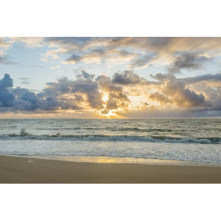 Hawaii, Kauai, Kealia Beach Sunrise Photo Print Wall Art By Rob -