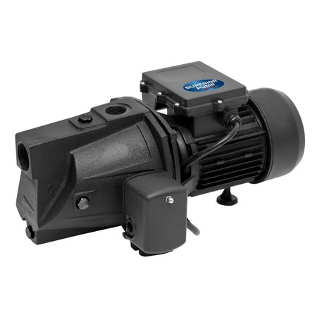 Superior Pump 1 HP 15.5 GPM Cast Iron Shallow Well Jet Pump, 25 Foot Depth
