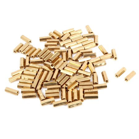 Net Nuts - 100 Pcs M2 8mm Hexagonal Net Nut Female Brass Standoff Spacer for CCTV Camera