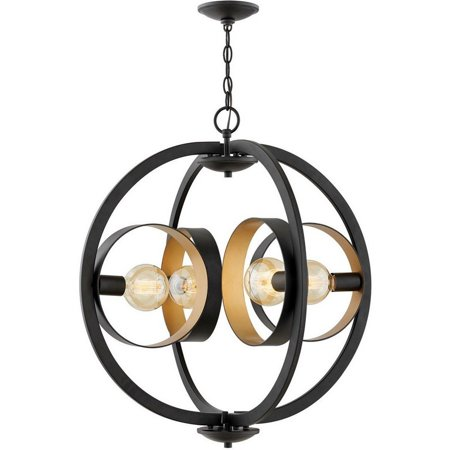 3434SK Orson 1 Light 26 inch Satin Black Foyer Chandelier Ceiling Light Single (Tiered Foyer)
