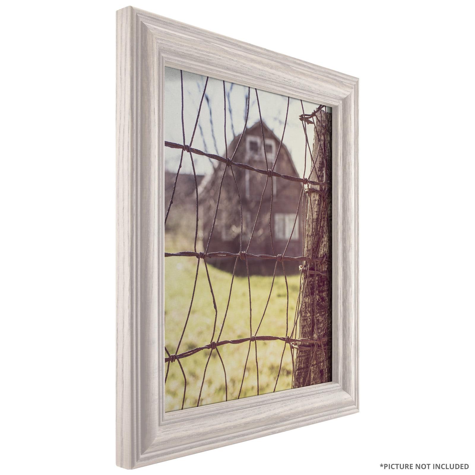Craig Frames Wiltshire 440, Traditional Whitewash Hardwood Picture Frame, 20x30 Inch by Craig Frames Inc.