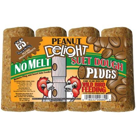 C&S® 12680 Peanut Delight No Melt Suet Dough Plug, 12 Oz