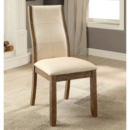 Furniture of America  Lenea Contemporary Padded Oak Dining Chair (Set of 2) - 19