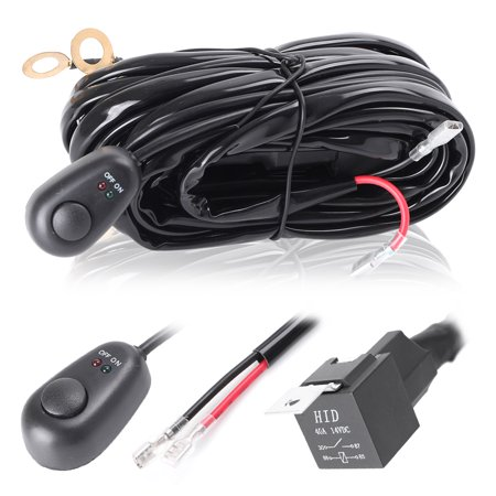 gzyf led light bar wiring harness,40a 12v relay on-off switch 180w -  walmart com