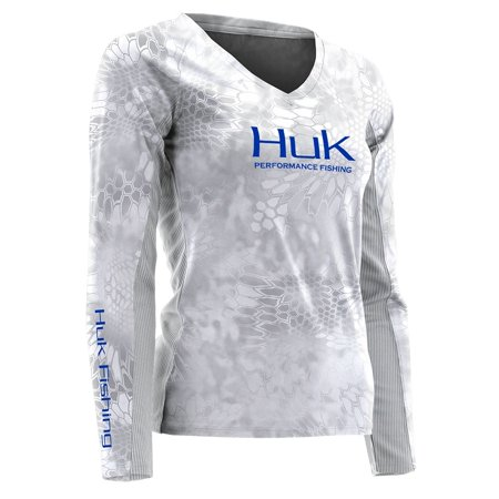 Huk Women's Kryptek Performance Long Sleeve Fishing Shirt, H12000075 (Large, Yeti)](Yeti Suit)