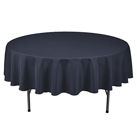 "Gee Di Moda Tablecloth - 70"" Inch Round Tablecloth,Navy Blue"
