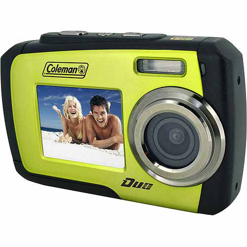 Coleman Green Duo 2V7WP Waterproof Digital Camera with 14 Megapixels and 3x Digital Zoom