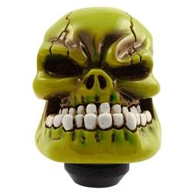 PilotBully PM2270 Skull Manual Transmission Shifter Knob, Green