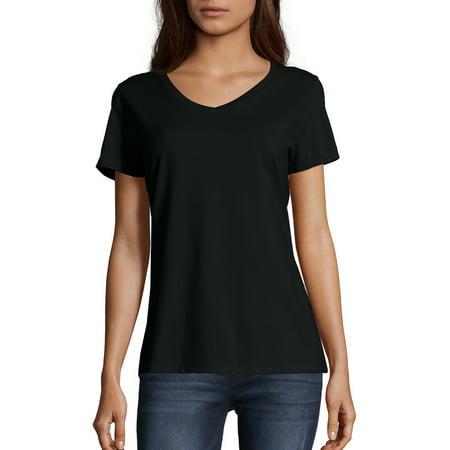 Women's Lightweight Short Sleeve V-neck T Shirt