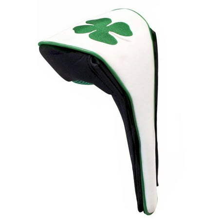 Magnetic Closure Headcover (JP Lann Luck of the Irish 4-Leaf Clover Golf Driver Headcover, Magnetic)