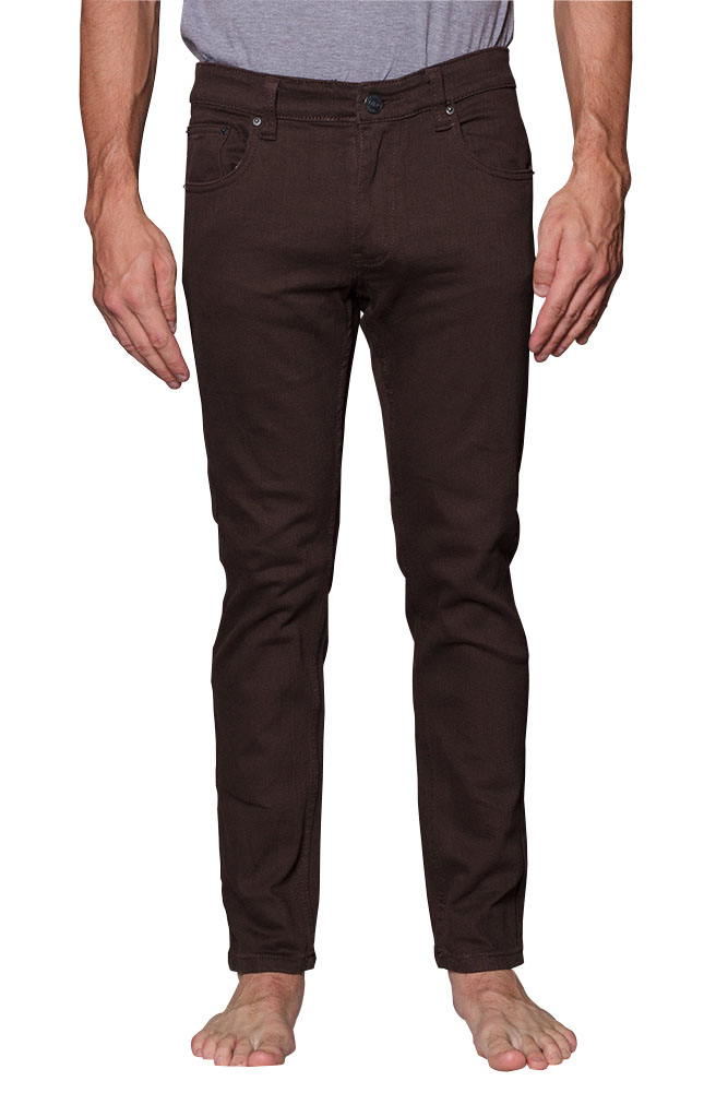 Victorious Men's Skinny Fit Color Stretch Jeans DL937 - BLACK - 28/30