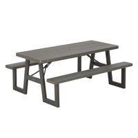 Lifetime 6-Foot W-Frame Folding Picnic Table, 60233