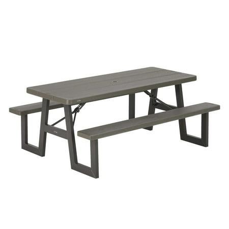 Lifetime 6-Foot W-Frame Folding Picnic Table,