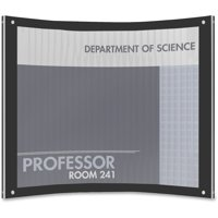 deflecto Superior Image Magnetic Certificate Holder, Plastic, 8-1/2 x 11, Black/Clear