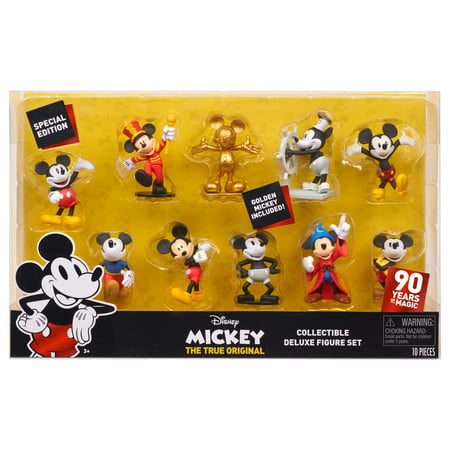 10 Figure Set (Mickey Mouse 90th Anniversary 10-Piece Collectible Figure)