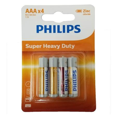 Philips AAA Zinc Chloride Triple A Batteries R03 1 5V Super Heavy Duty  Battery