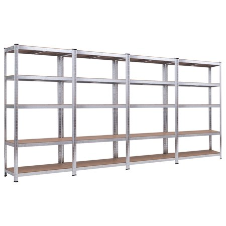 Costway 71'' Heavy Duty Storage Shelf Steel Metal Garage Rack 5 Level Adjustable -