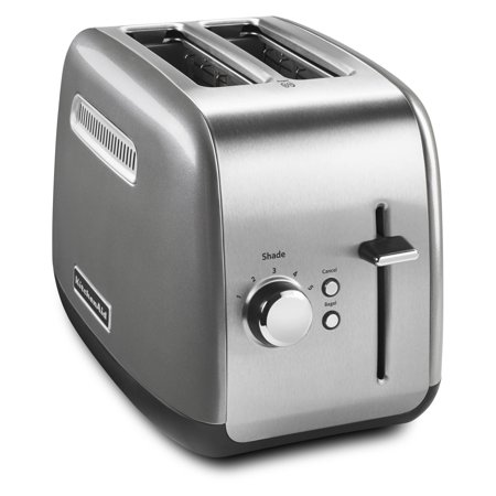 KitchenAid 2-Slice Contour Silver Toaster with Manual Lift Lever