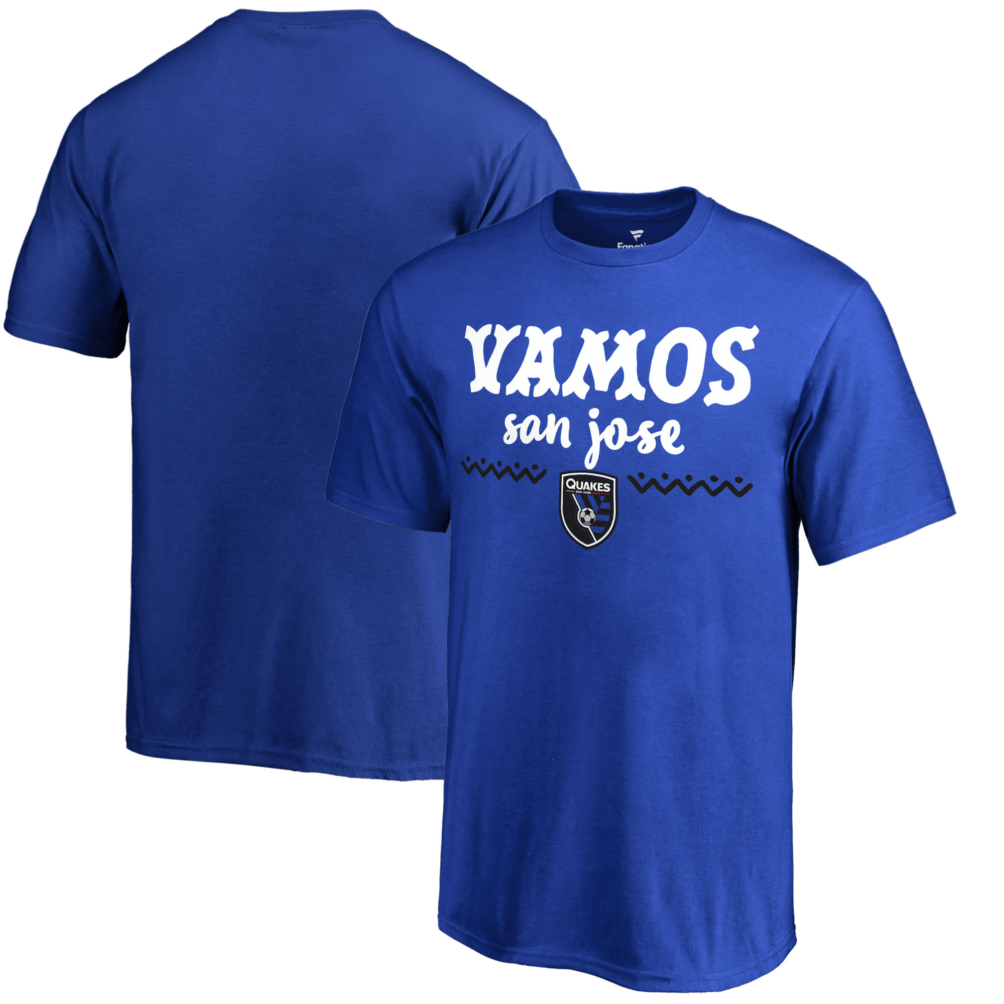 San Jose Earthquakes Fanatics Branded Youth Hispanic Heritage Let's Go T-Shirt - Blue