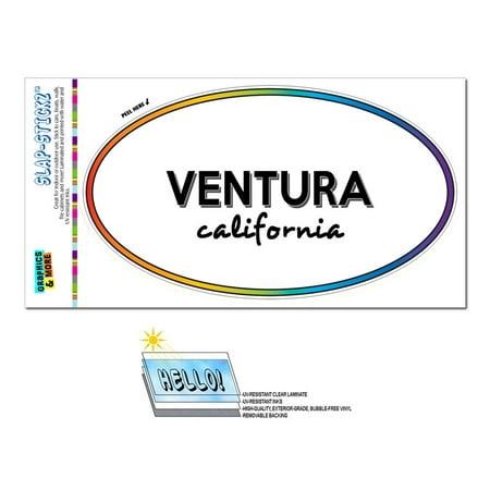 Party City Ventura (Ventura, CA - California - Rainbow - City State - Oval Laminated)