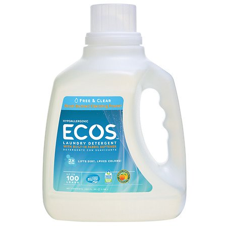 Earth Friendly Products Ecos 2X Ultra Free and Clear All Natural Liquid Laundry Detergent HE 100.0 oz.(pack of 3) Earth Friendly Products Ecos Laundry