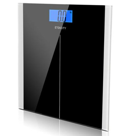 Etekcity Digital Weight Bathroom Body scale Tempered Glass 400lb/180Kg Black 9380