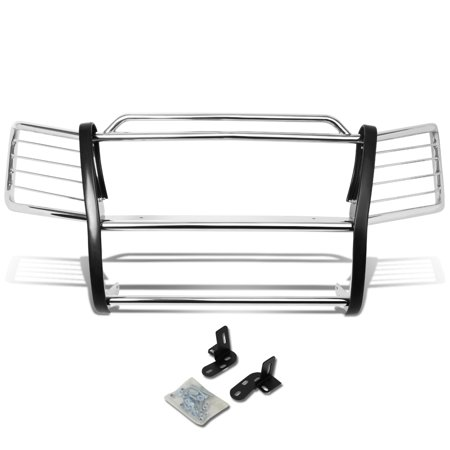 Avalanche Brush Guards - For 2002 to 2006 Chevy Avalanche with Cladding Front Bumper Protector Brush Grille Guard (Chrome) 03 04 05
