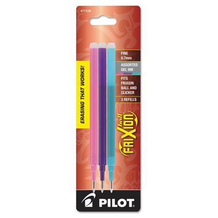 Pilot - Refills for FriXion Erasable Gel Ink Pen, Assorted - 3/Pack ()