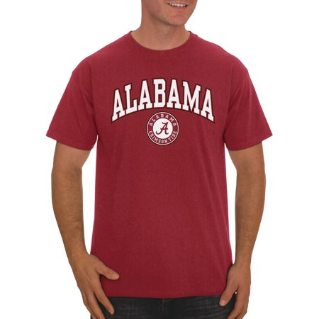 Russell NCAA Alabama Crimson Tide, Men's Classic Cotton T-Shirt](Alabama Crimson)