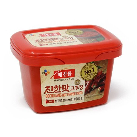 CJ Haechandle Gochujang, Hot Pepper Paste, 500g (Korean Spicy Red Chile Paste, 1.1 lb.) 1.1 - Chilli Paste