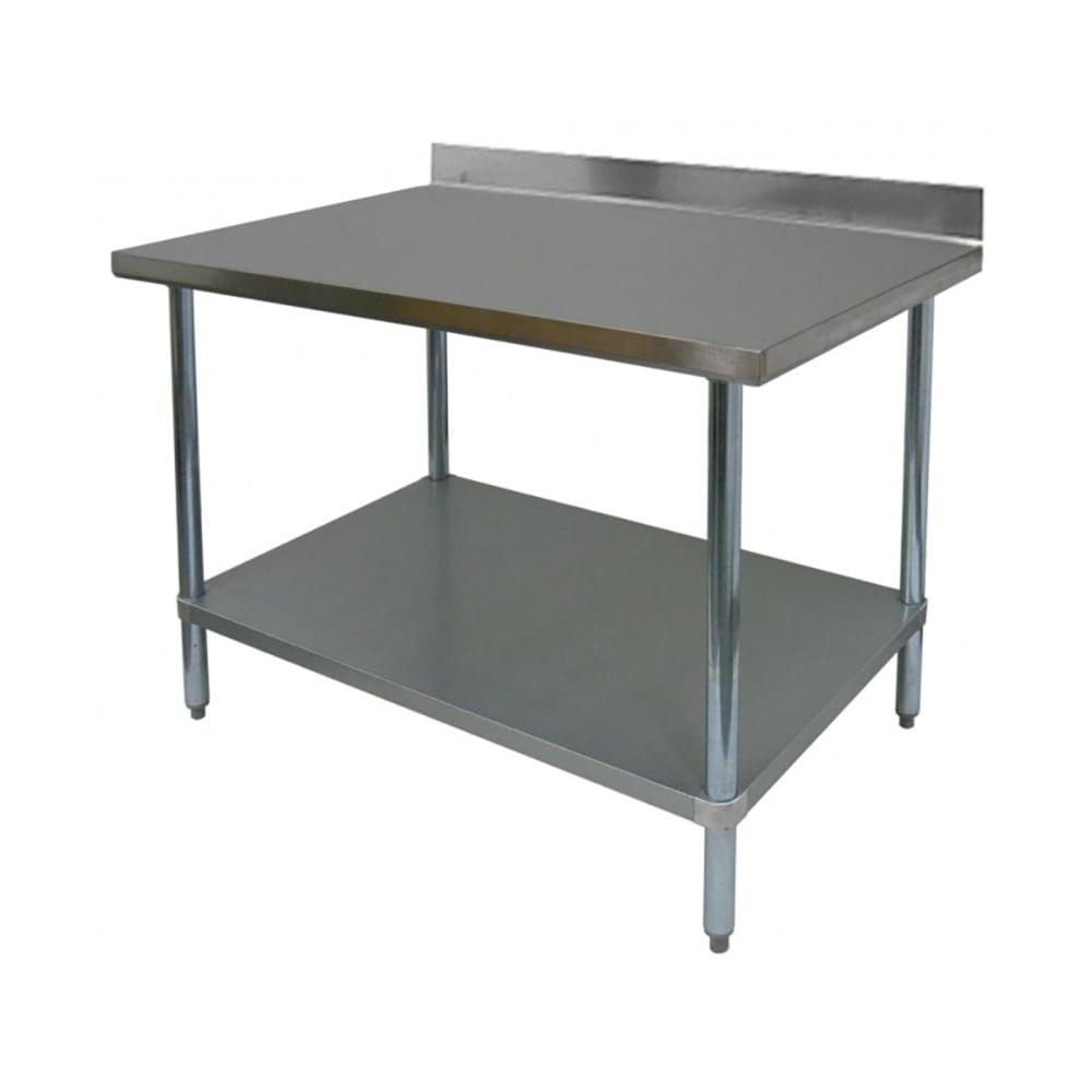 Ace Wt Pb3036 All Stainless Steel Commercial Work Table With 1 Undershelf 4 Backsplash Adjustable Bullet Feet 30 W X 36 L X 35 H Etl Certified Walmart Com Walmart Com