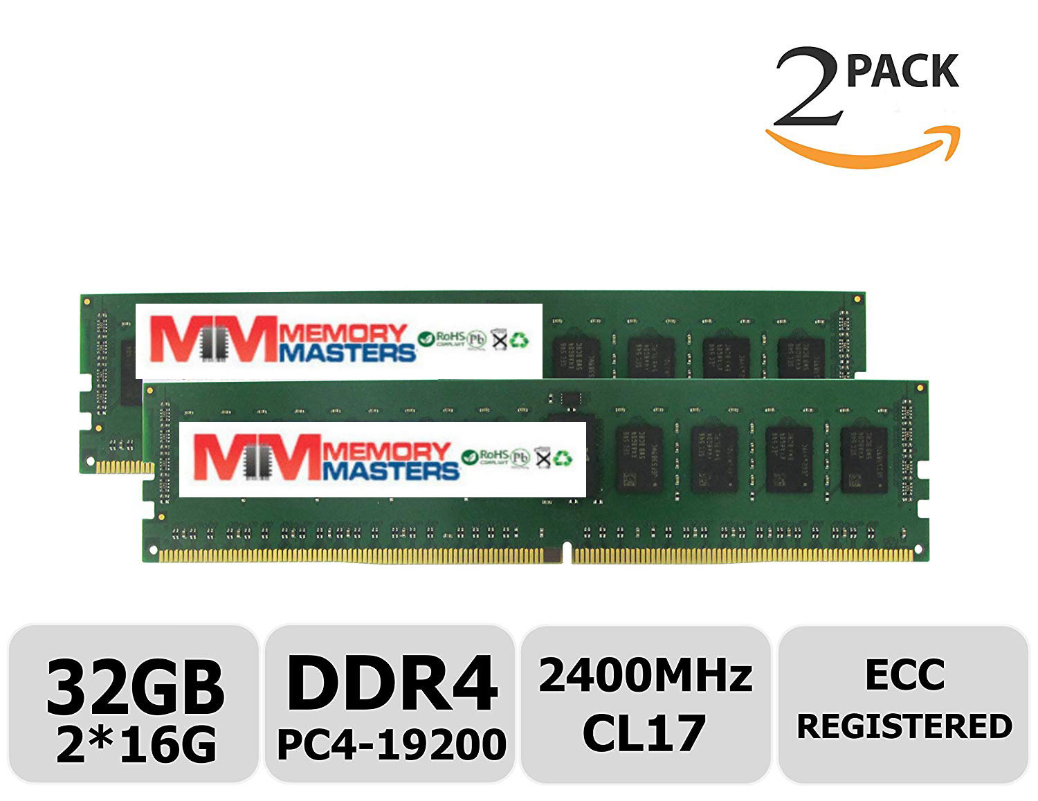 MemoryMasters Samsung IC 32GB Kit (2x16G) DDR4 2400MHz PC4