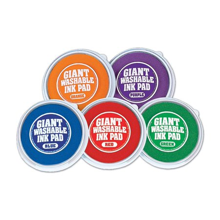 Lakeshore Bright Giant Washable Color Ink Pads - 5-Color Set
