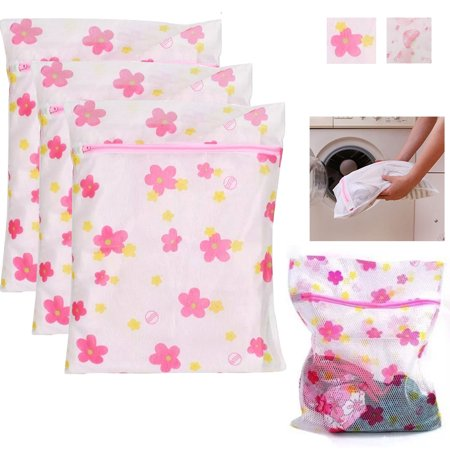 3 X Laundry Wash Bags Mesh Delicate Intimate Lingerie Panty Socks Protection