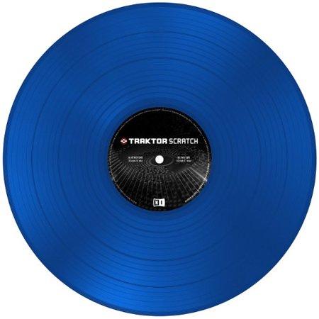 NI Traktor Scratch Pro Control Vinyl MK2 Blue By Native