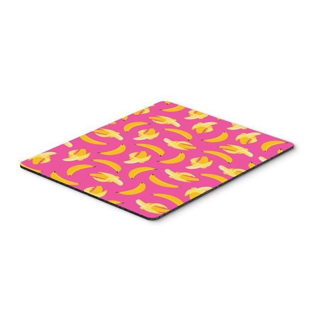 Bananas on Pink Mouse Pad, Hot Pad or Trivet