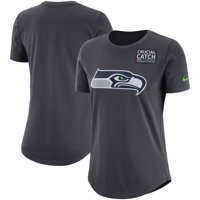 Seattle Seahawks Nike Women's Crucial Catch Tri-Blend Performance T-Shirt - Anthracite