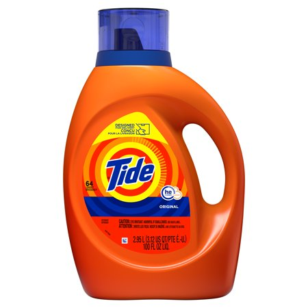 Tide Original HE, Liquid Laundry Detergent, 100 Fl Oz 64 loads