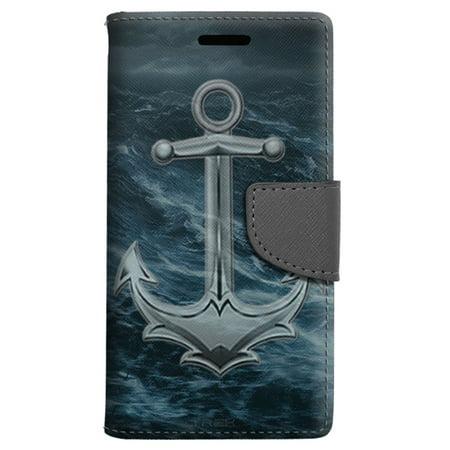 Google Pixel Xl Wallet Case   Rough Water Anchor Case