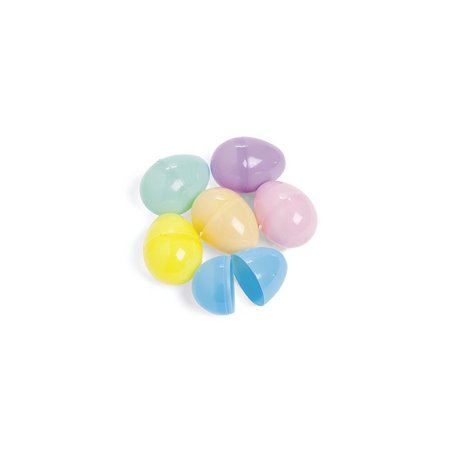 Plastic 3 Inch Jumbo Pastel Easter Egg Assortment 6 (3' Jumbo Mounts)