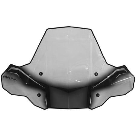 Powermadd 24570 Cobra Pro Tek Windshield - Headlight Cut Out with Standard Mount