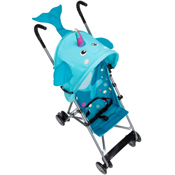 Cosco Comfort Height Character Umbrella Stroller, Narwhal