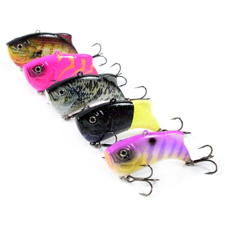 65mm 14g Artificial Hard VIB Bait Crankbait 3D Eyes Lifelike Sinking Fishing Lures Hook with Treble Hooks - image 4 of 7
