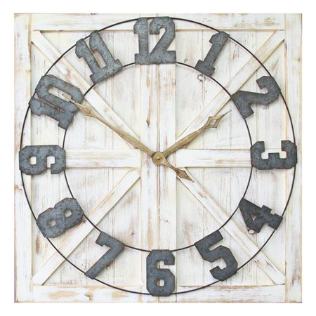 S11545 Rustic Farmhouse Wall Clock