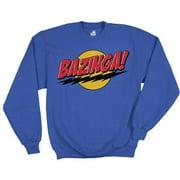 Big Bang Theory Bazinga Blue Crew Sweatshirt, Small