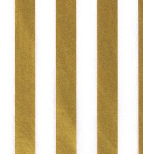 """GOLD METALLIC STRIPES Design Tissue Paper Sheets 15/"""" x 20/"""" Choose Package Amount"""