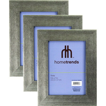 Hometrends Brushed Silver Tone 5x7 Picture Frame, Set of 3 - Walmart.com