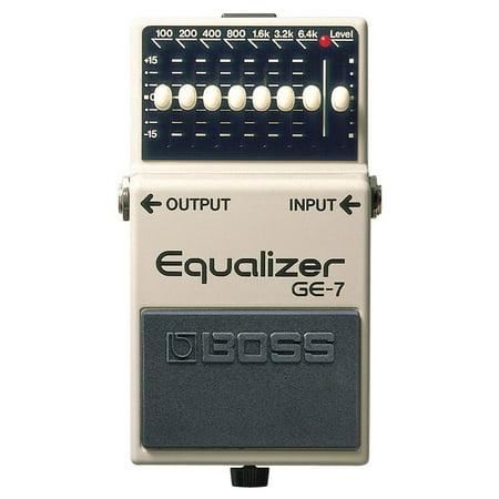 7 Band Equalizer Pedal - Boss GE-7 7 Band Adjustable EQ Slider Graphic Equalizer Guitar Pedal, Multicolor
