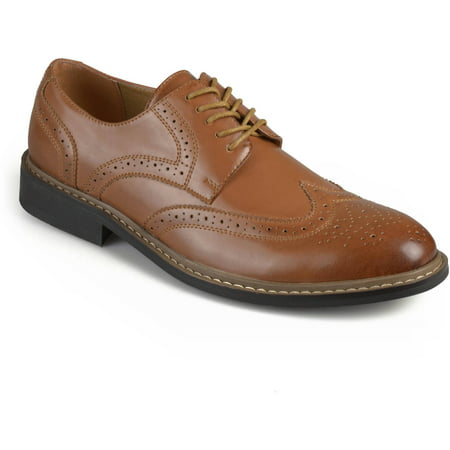 Daxx Men's Brady Wingtip Dress (Black & White Wingtips)